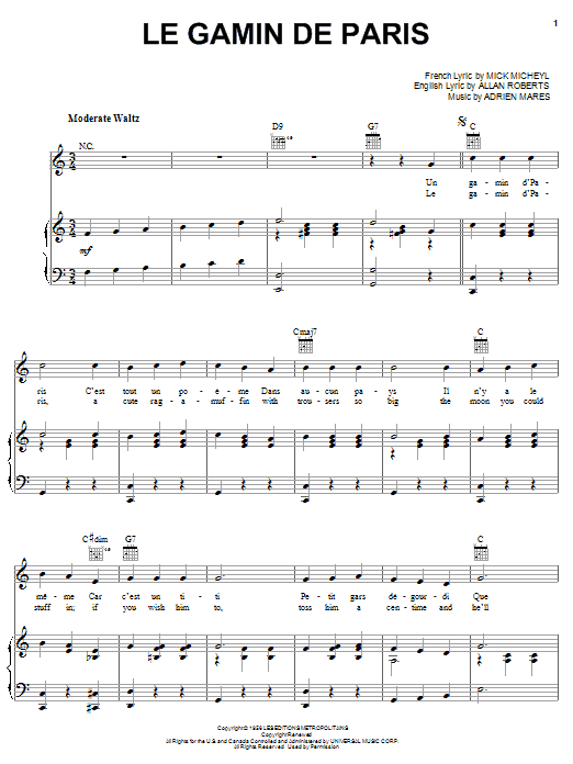 Download Mick Micheyl 'Le Gamin De Paris' Digital Sheet Music Notes & Chords and start playing in minutes