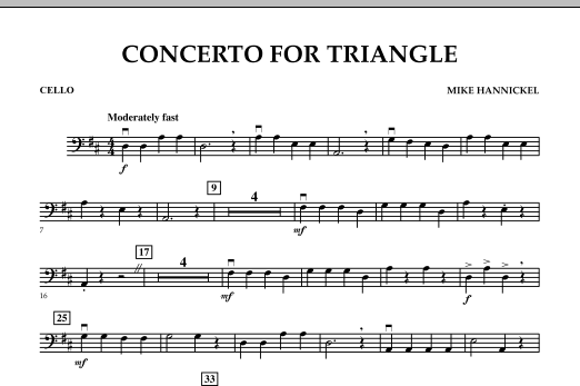 Download Mike Hannickel 'Concerto For Triangle - Cello' Digital Sheet Music Notes & Chords and start playing in minutes