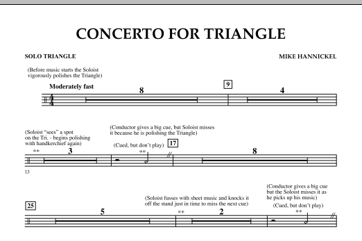 Download Mike Hannickel 'Concerto For Triangle - Solo Triangle' Digital Sheet Music Notes & Chords and start playing in minutes