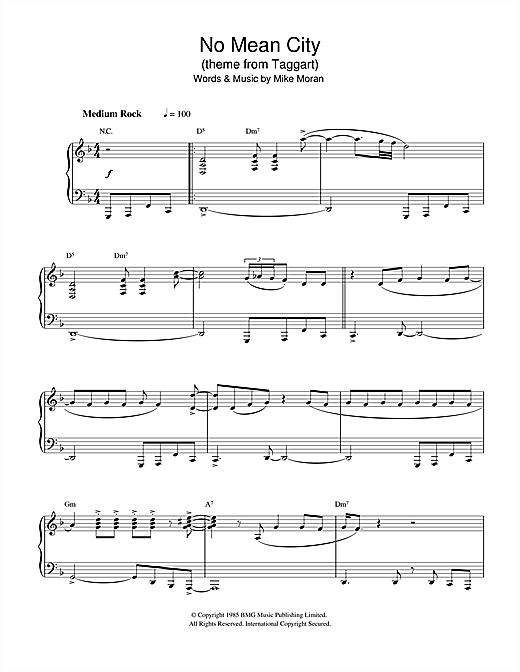 Download Mike Moran 'No Mean City (theme from Taggart)' Digital Sheet Music Notes & Chords and start playing in minutes