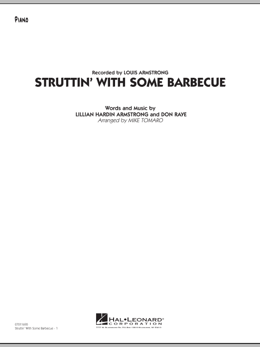 Mike Tomaro Struttin' with Some Barbecue - Piano sheet music preview music notes and score for Jazz Ensemble including 7 page(s)