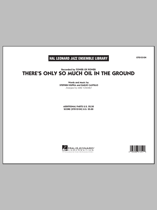 Mike Tomaro There's Only So Much Oil in the Ground - Conductor Score (Full Score) sheet music notes and chords