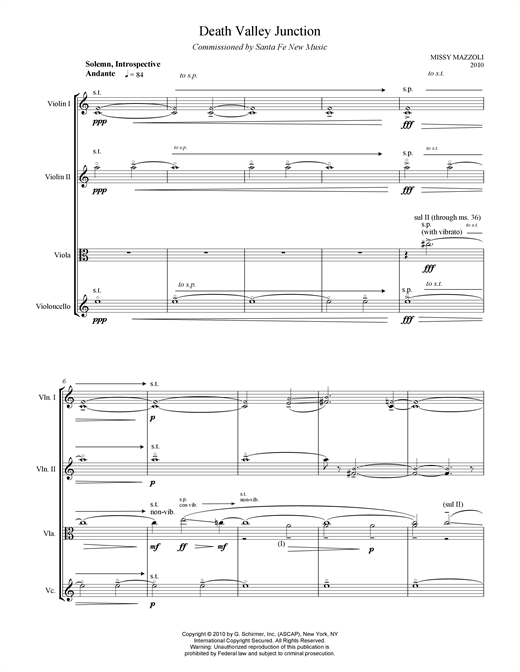 Download Missy Mazzoli 'Death Valley Junction' Digital Sheet Music Notes & Chords and start playing in minutes