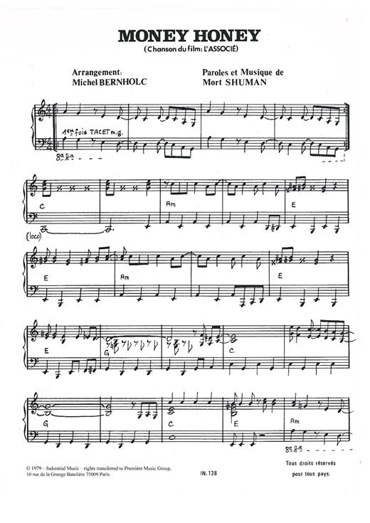 Mort Shuman Money Honey sheet music notes and chords