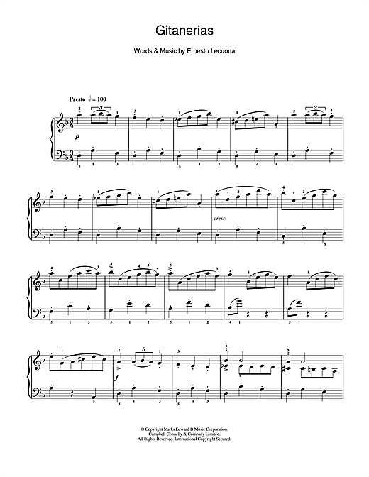 Download Morton Gould 'Gitanerias' Digital Sheet Music Notes & Chords and start playing in minutes
