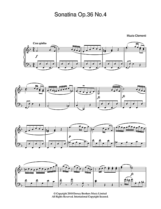 Download Muzio Clementi 'Sonatina Op. 36, No. 4' Digital Sheet Music Notes & Chords and start playing in minutes