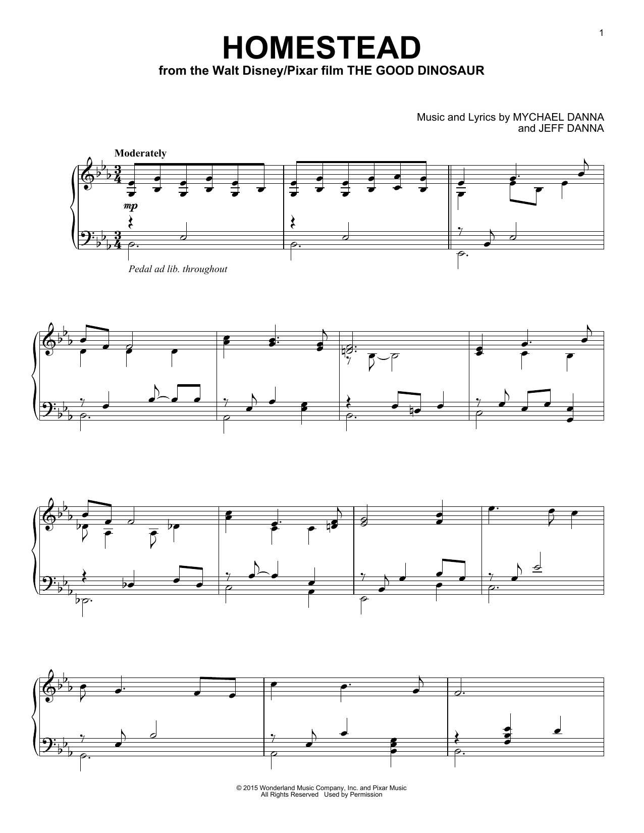 Download Mychael & Jeff Danna 'Homestead' Digital Sheet Music Notes & Chords and start playing in minutes