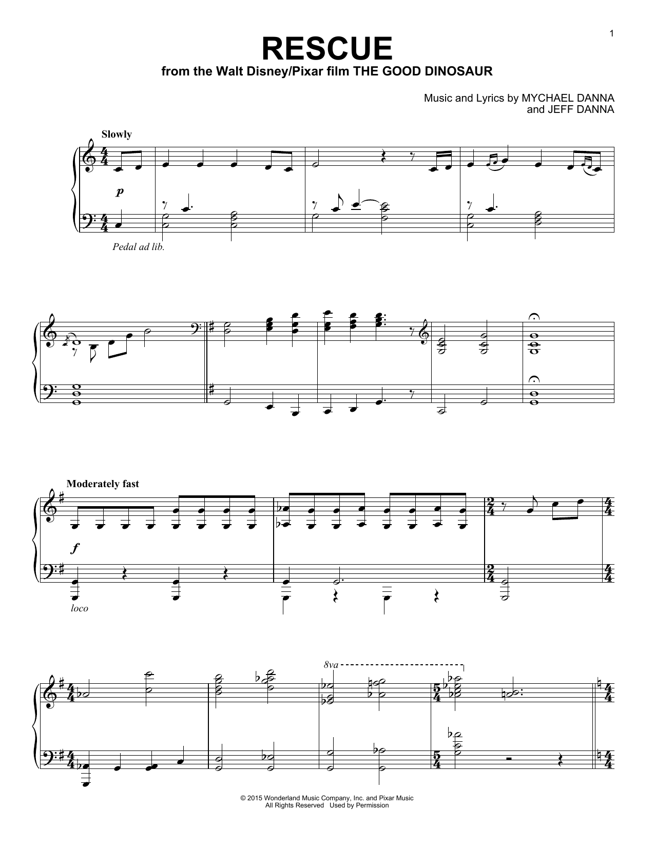 Mychael & Jeff Danna Rescue sheet music notes and chords