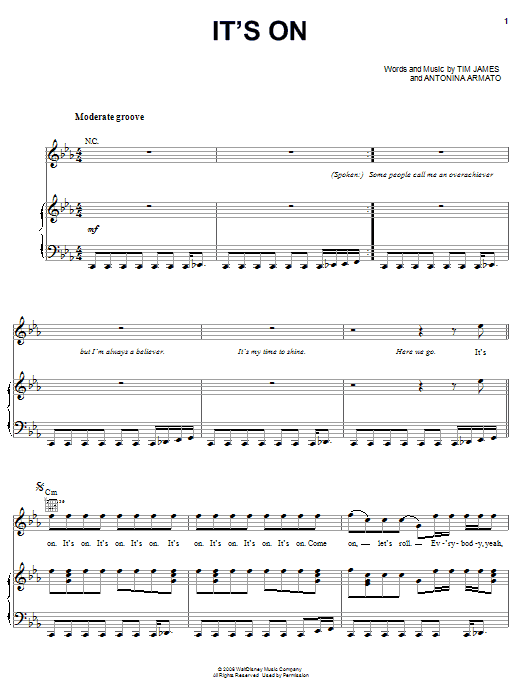 N.L.T. It's On sheet music preview music notes and score for Piano, Vocal & Guitar (Right-Hand Melody) including 8 page(s)
