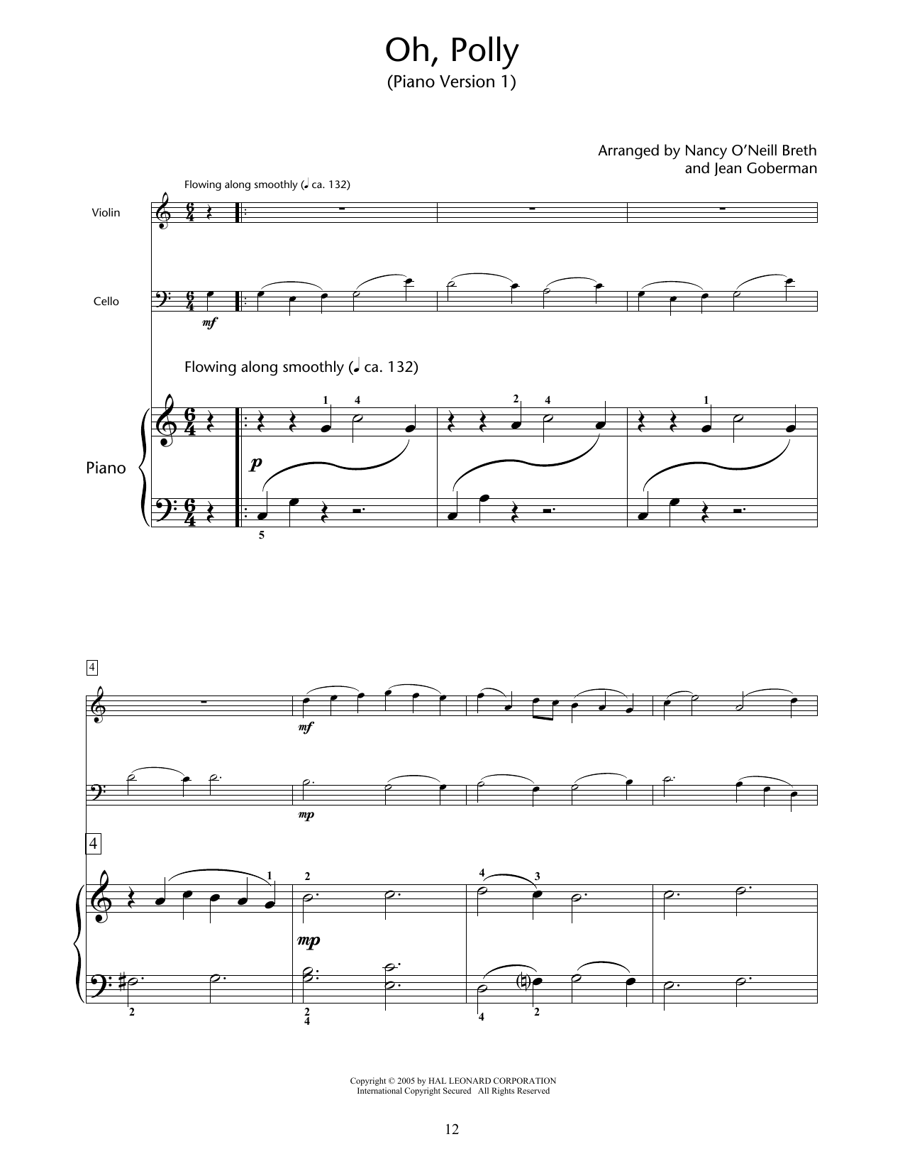 Download Nancy O'Neill Breth & Jean Goberman 'Oh, Polly' Digital Sheet Music Notes & Chords and start playing in minutes