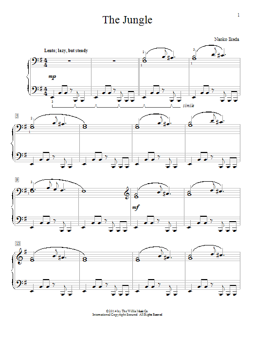 Download Naoko Ikeda 'The Jungle' Digital Sheet Music Notes & Chords and start playing in minutes