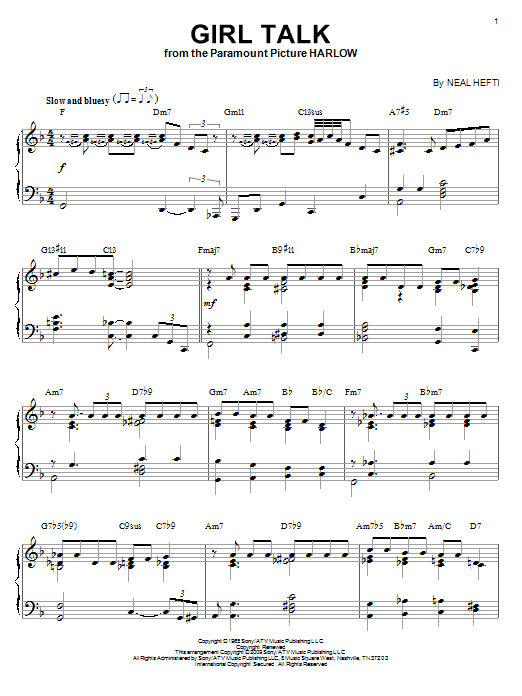 Download Neal Hefti 'Girl Talk' Digital Sheet Music Notes & Chords and start playing in minutes