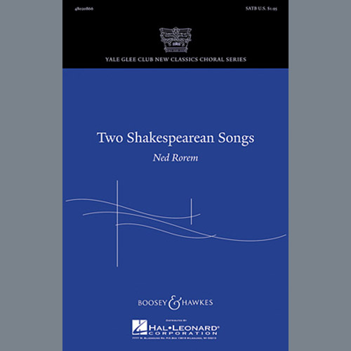 Ned Rorem Two Shakespearean Songs pictures