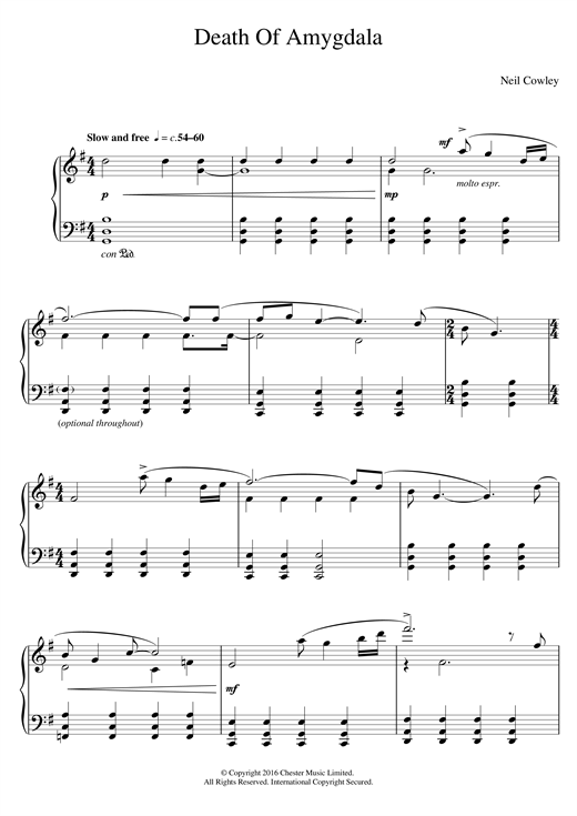 Download Neil Cowley Trio 'Death Of Amygdala' Digital Sheet Music Notes & Chords and start playing in minutes