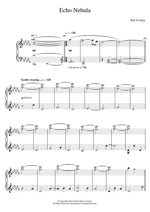 Download Neil Cowley Trio 'Echo Nebula' Digital Sheet Music Notes & Chords and start playing in minutes