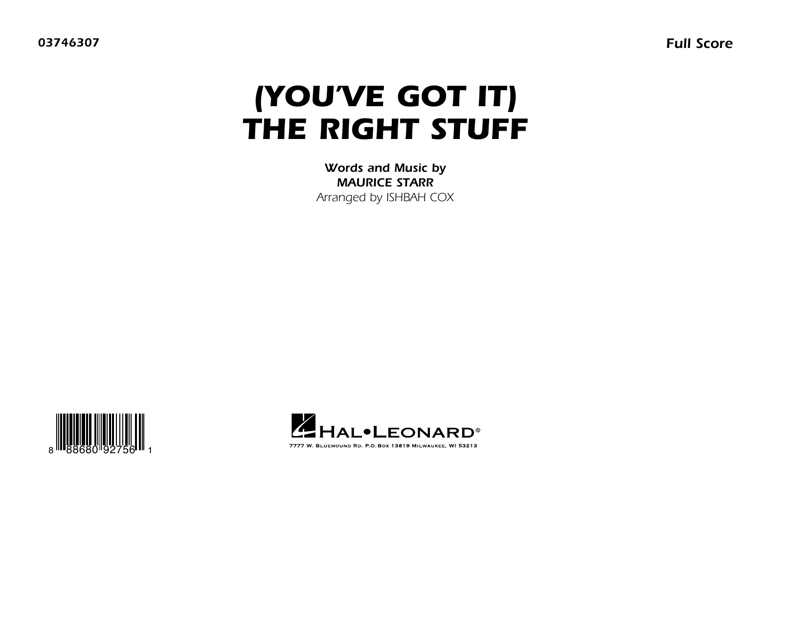 New Kids On The Block (You've Got It) The Right Stuff (arr. Ishbah Cox) - Conductor Score (Full Score) sheet music preview music notes and score for Marching Band including 7 page(s)