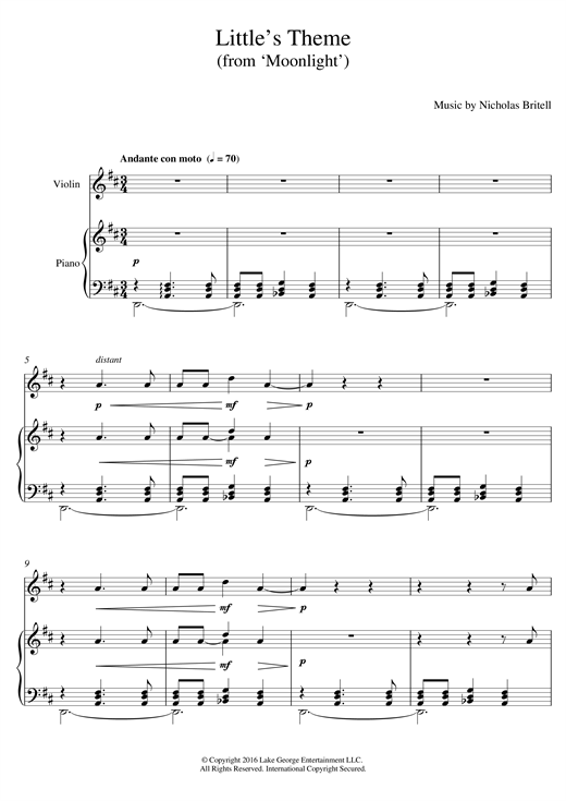 Download Nicholas Britell 'Little's Theme (From 'Moonlight')' Digital Sheet Music Notes & Chords and start playing in minutes