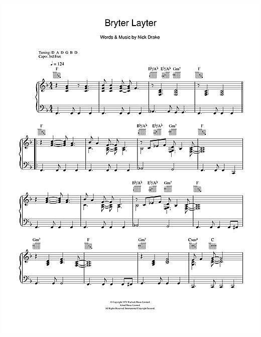 Download Nick Drake 'Bryter Layter' Digital Sheet Music Notes & Chords and start playing in minutes