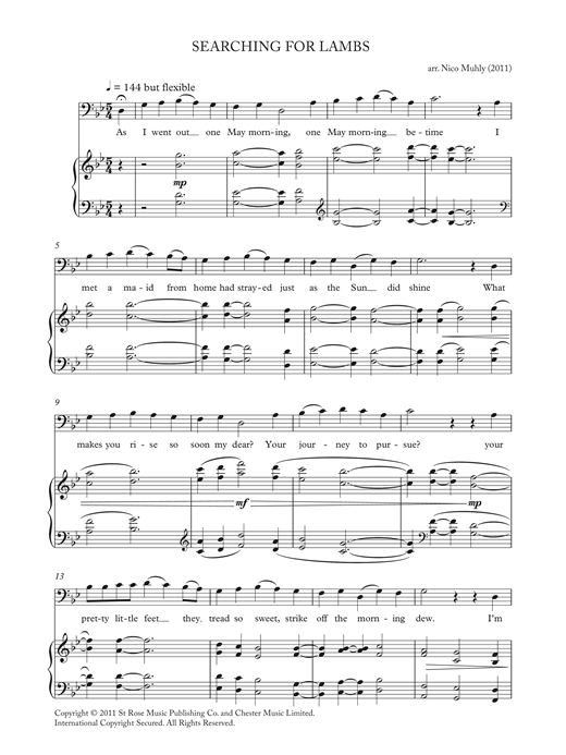 Download Nico Muhly 'Searching For Lambs (from 'Four Traditional Songs')' Digital Sheet Music Notes & Chords and start playing in minutes