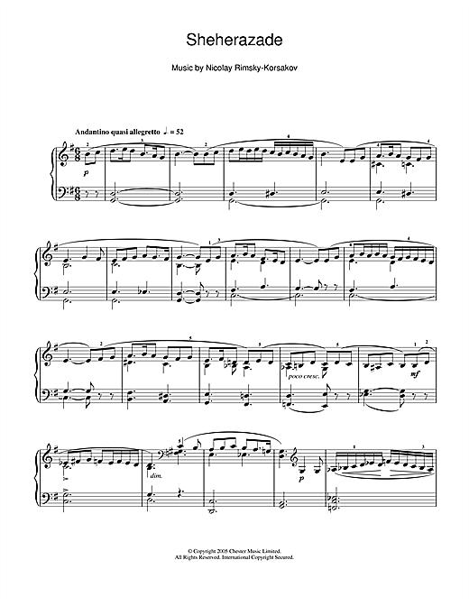 Download Nikolai Rimsky-Korsakov 'Sheherazade' Digital Sheet Music Notes & Chords and start playing in minutes