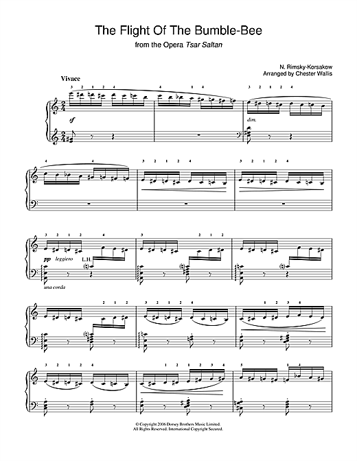 Nikolai Rimsky-Korsakov The Flight Of The Bumblebee (from The Tale Of Tsar Saltan) sheet music notes and chords