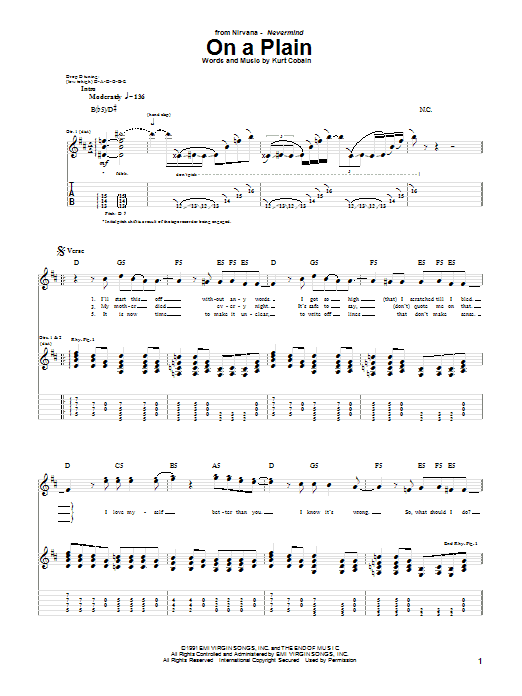 Nirvana On A Plain sheet music notes and chords