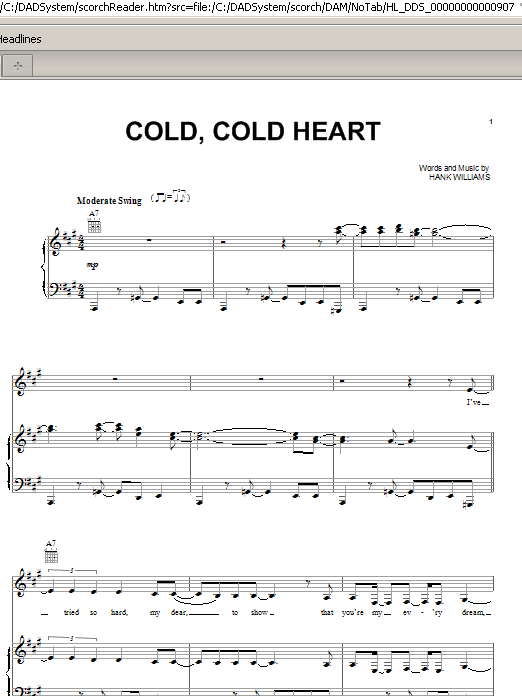 Norah Jones Cold, Cold Heart sheet music notes and chords