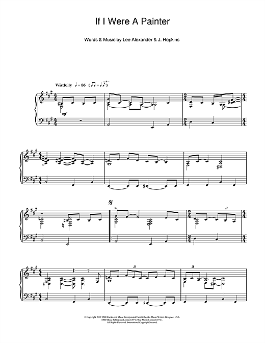 Download Norah Jones 'If I Were A Painter' Digital Sheet Music Notes & Chords and start playing in minutes