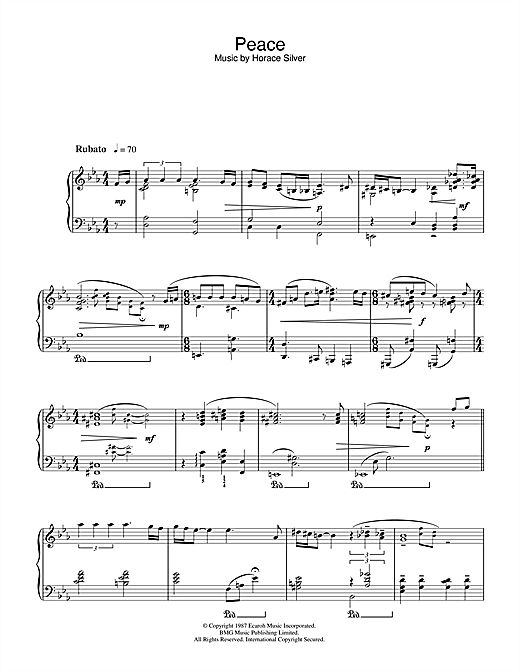 Download Norah Jones 'Peace' Digital Sheet Music Notes & Chords and start playing in minutes