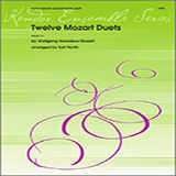 Download North Twelve Mozart Duets Sheet Music arranged for Wind Ensemble - printable PDF music score including 13 page(s)