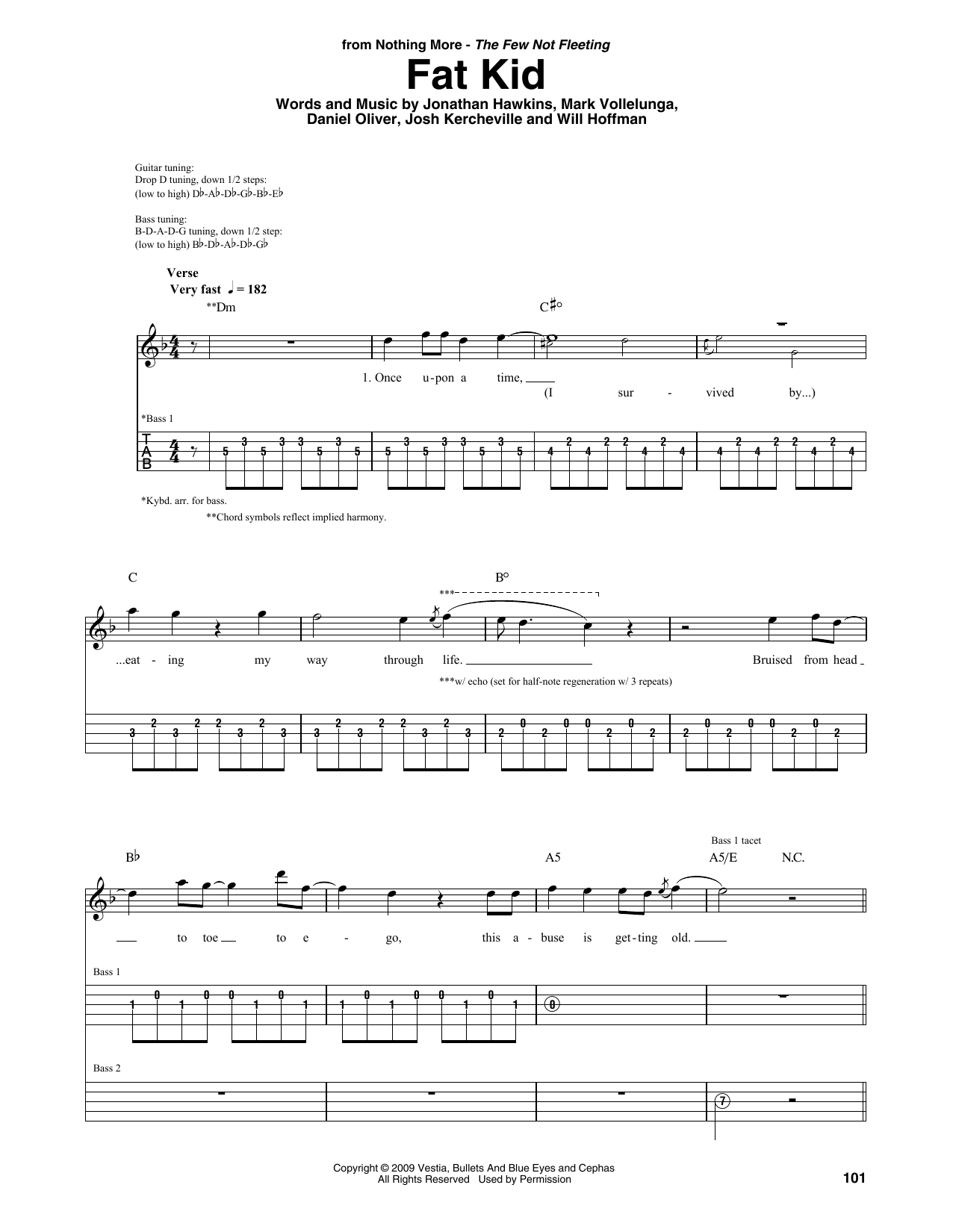 Download Nothing More 'Fat Kid' Digital Sheet Music Notes & Chords and start playing in minutes