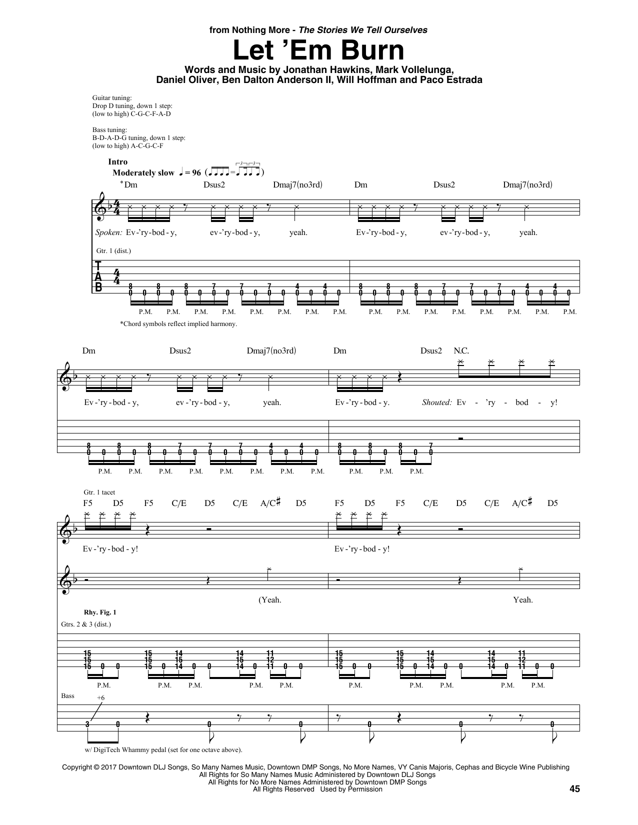 Download Nothing More 'Let 'Em Burn' Digital Sheet Music Notes & Chords and start playing in minutes