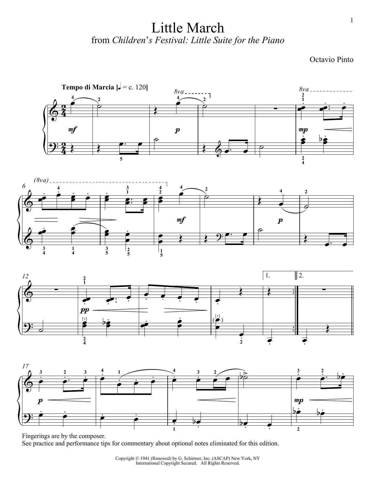 Download Octavio Pinto 'Little March' Digital Sheet Music Notes & Chords and start playing in minutes