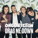 Download One Direction Drag Me Down Sheet Music arranged for Piano, Vocal & Guitar with Backing Track - printable PDF music score including 7 page(s)