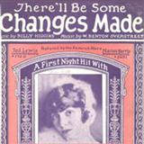 Download or print There'll Be Some Changes Made Sheet Music Notes by W. Benton Overstreet for Piano