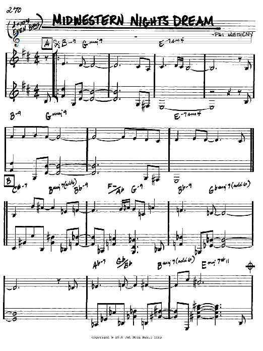 Pat Metheny Midwestern Nights Dream sheet music preview music notes and score for Real Book - Melody & Chords - Bb Instruments including 2 page(s)