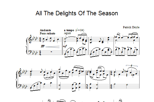 Patrick Doyle All The Delights Of The Season (from Sense And Sensibility) sheet music preview music notes and score for Piano including 2 page(s)