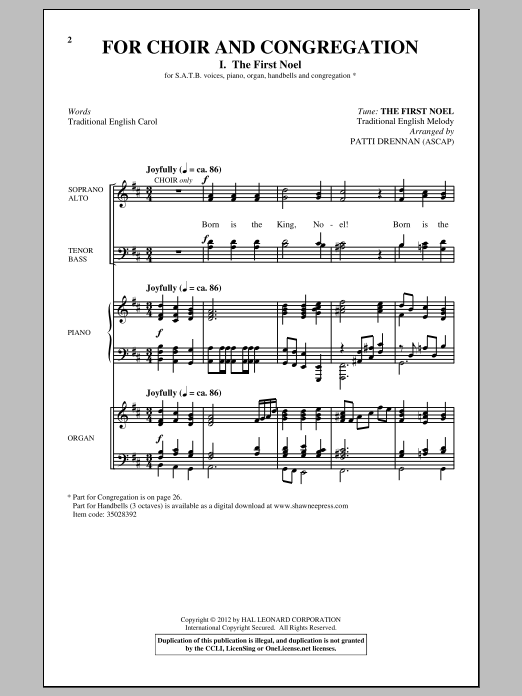 Download Patti Drennan 'For Choir And Congregation, Voume. 3' Digital Sheet Music Notes & Chords and start playing in minutes