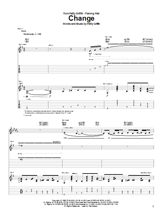 Patty Griffin Change sheet music notes and chords