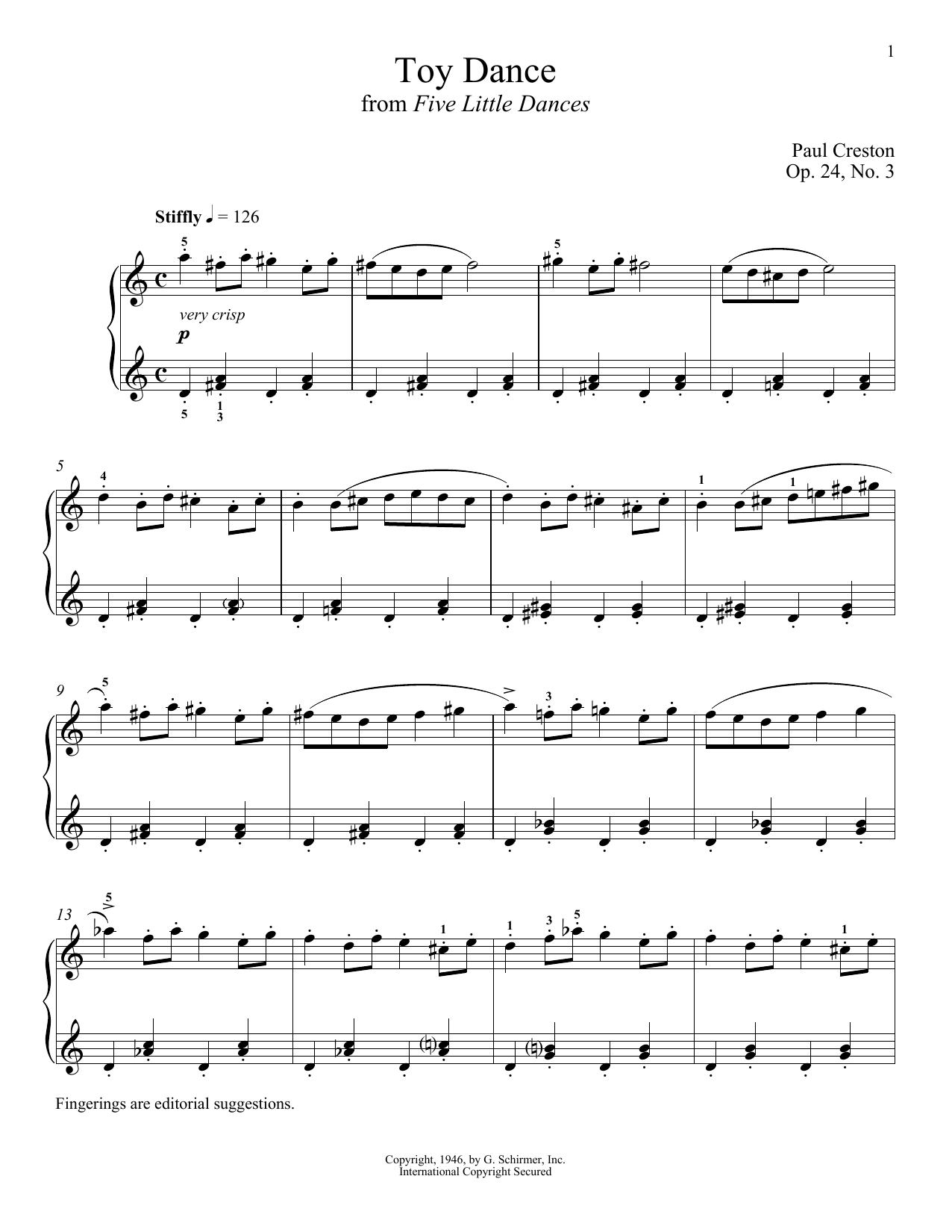 Download Paul Creston 'Toy Dance' Digital Sheet Music Notes & Chords and start playing in minutes