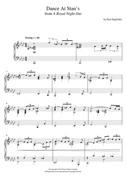 Download Paul Englishby 'Dance At Stan's (From 'A Royal Night Out')' Digital Sheet Music Notes & Chords and start playing in minutes