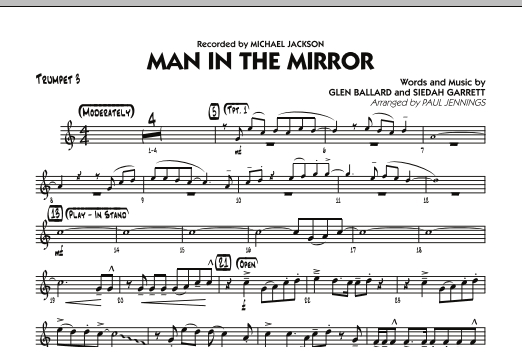 Paul Jennings Man In The Mirror - Trumpet 3 sheet music preview music notes and score for Jazz Ensemble including 1 page(s)