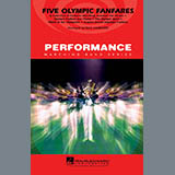 Download Paul Lavender Five Olympic Fanfares - Bb Tenor Sax Sheet Music arranged for Marching Band - printable PDF music score including 1 page(s)