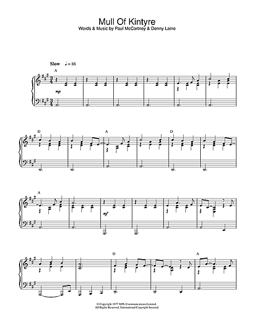 Download Paul McCartney & Wings 'Mull Of Kintyre' Digital Sheet Music Notes & Chords and start playing in minutes