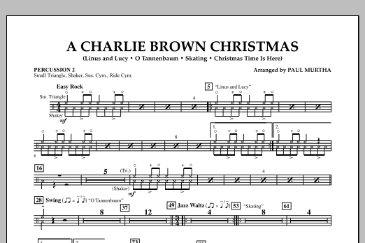 Paul Murtha A Charlie Brown Christmas - Percussion 2 sheet music notes and chords