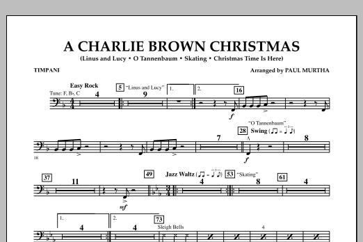 Paul Murtha A Charlie Brown Christmas - Timpani sheet music notes and chords