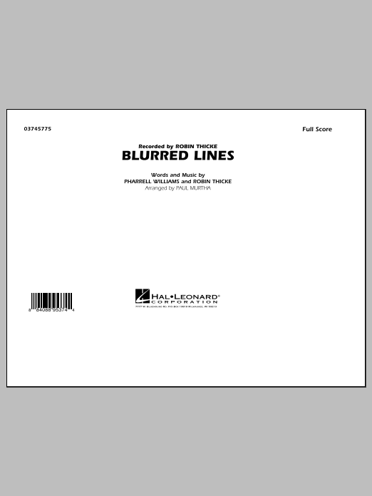 Paul Murtha Blurred Lines - Conductor Score (Full Score) sheet music notes and chords