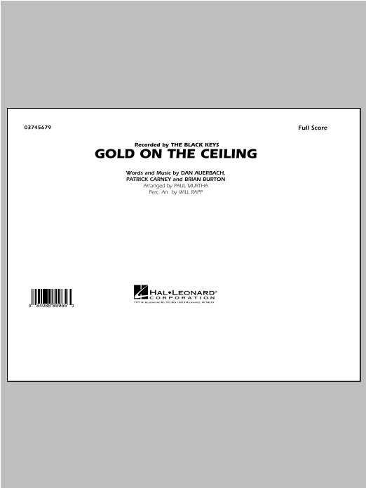 Paul Murtha Gold on the Ceiling - Conductor Score (Full Score) sheet music notes and chords