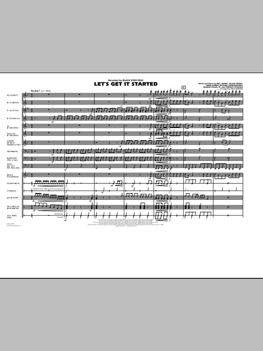 Download Paul Murtha 'Let's Get It Started - Conductor Score (Full Score)' Digital Sheet Music Notes & Chords and start playing in minutes