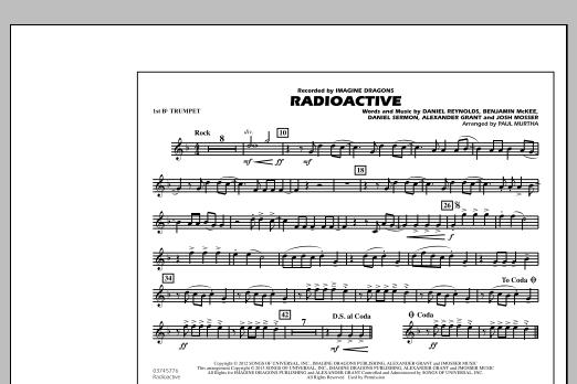 Paul Murtha Radioactive - 1st Bb Trumpet sheet music notes and chords